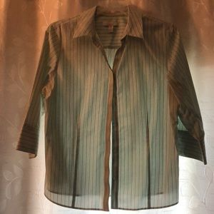 Chico's size 3 striped shirt
